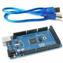 Arduino Mega 2560 Rev3 R3 16au + Cabo Usb - Automação Garan