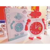 Reloj Despertador Robot Rosa