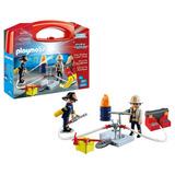 Playmobil - Maletin Rescate De Fuego Bomberos - 5651