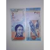 Billetes De 2 Bolivares Serie H 2012 Coleccion