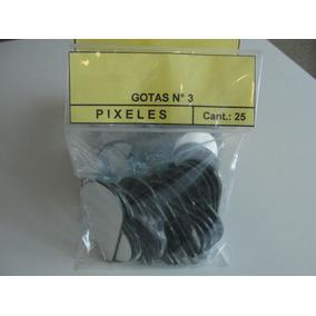 Pixeles, Gotas Nº 3 De 57 X 30 En Espejo Para Mosaiquismo