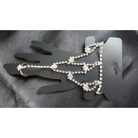 Pulseira De Mão - Hand Chain De Strass