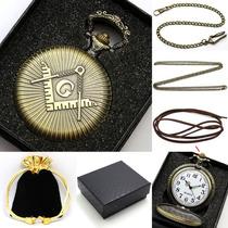 Relógio De Bolso Quartz Antigo Vitage Maçonico