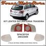 Kit Lentes Lanterna Traseira Spacefox 2008 6 Peças