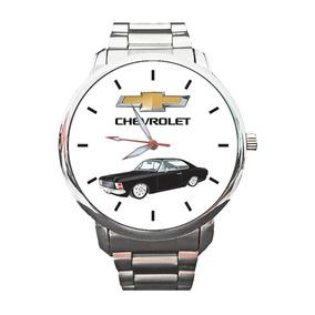 Relógio Logo Chevrolet Personalizado Opala Caravan Gm Ss