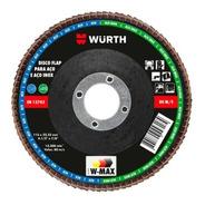 Disco Flap 4.1/2 Pol. 115mm Grão 120 Para Aço E Inox - Wurth