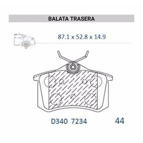Balatas Traseras Disco Jetta A4 1.9 2.0 (00 - 02) Canabrake