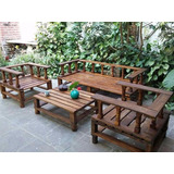 sillon pallet palet reciclado rustico con mesa en juego - Sillon De Palets