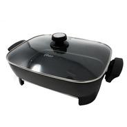 Sartén Eléctrico Con Antiadherente Y Regulador De Temperatura Y Tapa De Vidrio Grande Negro Oster Ckstskfm05-014