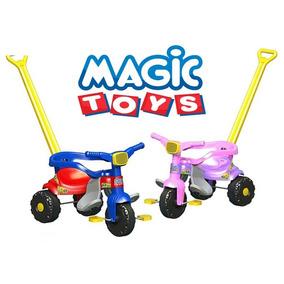 Triciclo,velotrol,reforçado,super Smart,magic Toys Rosa/azul