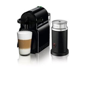 Máquna De Café Nespresso Inissia Negra + Espumador De Leche