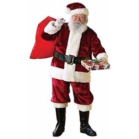 Disfraz De Papa Noel Santa Claus Adulto + Botas Envio Gratis