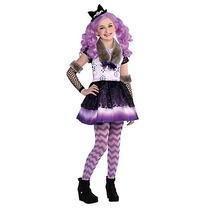 Disfraz Niña After High Kitty Cheshire Incluye Peluca