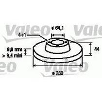 Juego Discos Trasero Mini Cooper 1.6 S 2001 Al 2006 Valeo