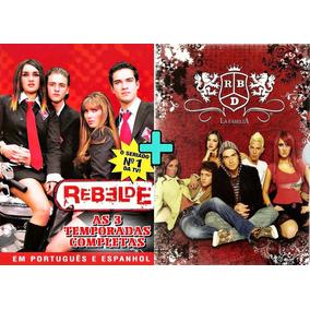 Rbd La Familia + Rebelde 1ª A 3ª Temporada 21 Dvds Ft Grátis