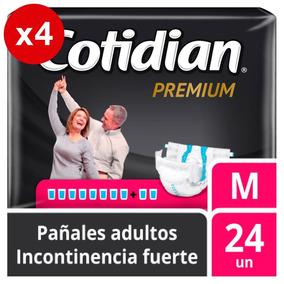Pañal Adulto Cotidian Premium X4 96u Talla M Envio Gratis