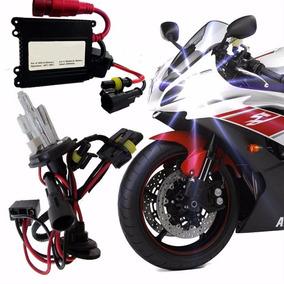 Kit Xenon Moto H4-2 6000k E 8000k Reator Slin H4 Luz Lampada