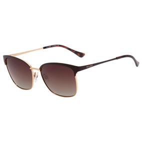 Bulget Bg 3188 - Óculos De Sol 01b Marrom Fosco E Dourado