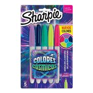 Marcadores Sharpie Fino X 5 Colores Cosmicos