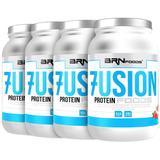 Kit Super Whey Proten: 4x Fusion Protein 900g Brn Foods