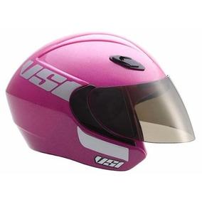 Capacete Vaz Aberto Verao Vs1 Pink Tamanho 58