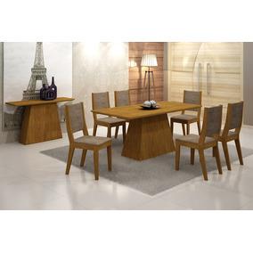 Sala Rufato 180 C/ 06 Cadeiras 27494 - Imbuia Ani. Choc.