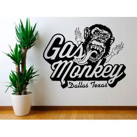 Adesivo Gas Monkey Garage Dallas Texas 61cmx47,5cm Sala