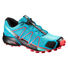 Tenis Mujer Salomon Trail Running Dama Speedcross 4 Azul
