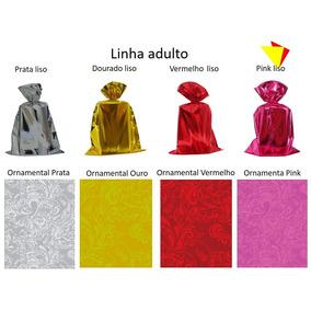 Embalagem Saco Para Presente Metalizado 25x37 Pc. C/ 100 Un.