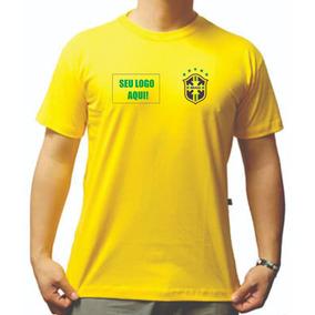 10 Camiseta Copa Mundo Brasil Rússia Empresa Seu Logo Brinde