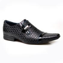 Sapato Social Masculino Calvest Monza Em Couro Texturizado