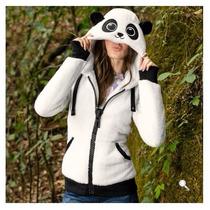 Sudadera Chamarra Panda Dama Fashion Moda Casual