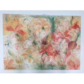 cuadro hecho en oleo de flores abstractas arte moderno