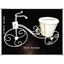 Adorno Bicicleta/porta Maceta De Hierro
