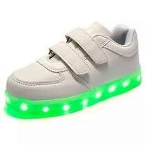 Zapatillas Con Luz Led Niños Unisex Hermosas Se Cargan Usb