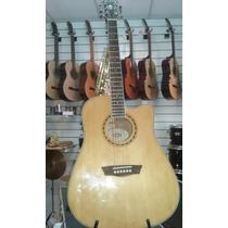 Guitarra Washburn Electro Acústica Wd10sce Nat Eq-fishman