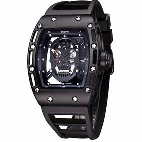 Reloj Skone De Calavera, Skull Watch Para Hombre Negro