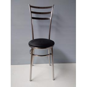 Cadeira Em Aço Inox Stilo No Aço 304 Polido
