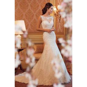 Vestido De Novia Sirena Nuevo Blanco Y Marfil Obsequio Enagu