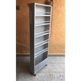 Alacena Grande Para Costado De Refrigerador Plateada
