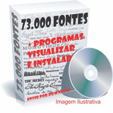 150mil Fontes (letras) Para Wilcom, Corel, Word E Outros