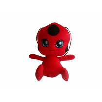 Tikki Miraculos Da Ladybag - Boneca Bichinho Joaninha 25 Cm
