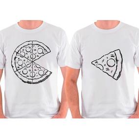 Kit 2 Camisetas Best Friends Amigos Namorados Pizza Conjunto