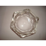 Cenicero De Cristal Facetado Exagonal
