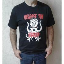 Camiseta - Estampa Exclusiva - Release The Kraken