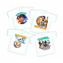 10 Playeras Star Wars Personalizada Fiesta Envío Gratis