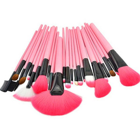 ¡set De 25 Brochas Y Pinceles Pink Maquillaje Profesional !