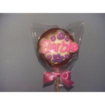Pirulito De Chocolate Personalizado - Barbie
