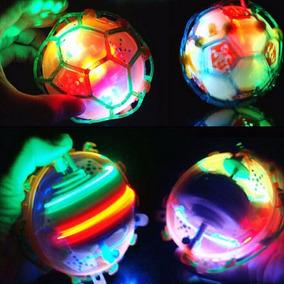 Brinquedo Bola Maluca Bebê Criança Pula Vibra C/ Luz De Led