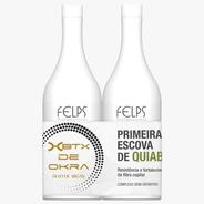 Felps Escova Progressiva De Quiabo Xbtx De Okra 2x250ml